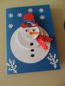 snowman christmast card