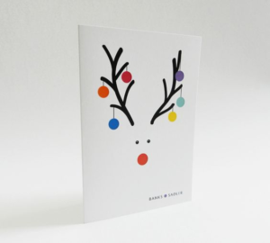 nice simple reindeer christmas card design