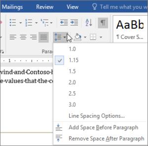 good spacing dissertation tips